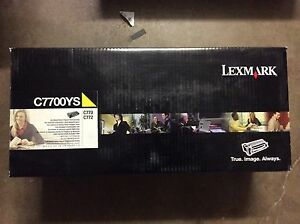 LEXMARK-C7700YS-GENUINE-YELLOW-TONER-CARTRIDGE-FOR-C770-C772-NEW