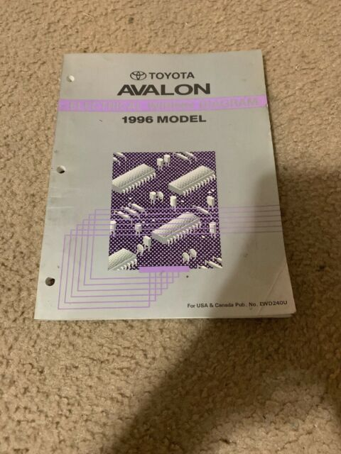 1996 Toyota Avalon Wiring Diagrams Electrical Service Manual
