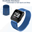 Magnetic-Stainless-Watch-Wrist-Band-Strap-For-Fitbit-Versa-Lite-Smart thumbnail 11