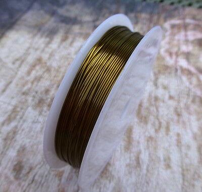1 Spool Copper 0.6mm x 10 Meters Jewellery Craft Beading Wire Tiara Wrap Memory Copper Brass Metal Findings