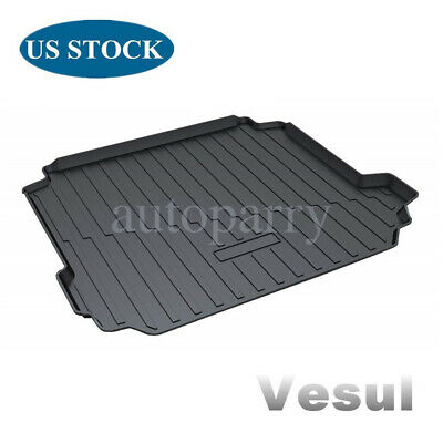 Vesul Rubber Rear Trunk Cover Cargo Liner Trunk Tray Carpet Floor Mat Compatible with Porsche Cayenne 2019