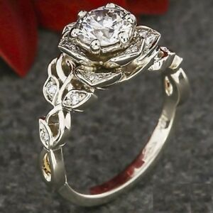 1.5 CT ROUND CUT DIAMOND SOLITAIRE ENGAGEMENT RING 14K WHITE GOLD Finish 9.5