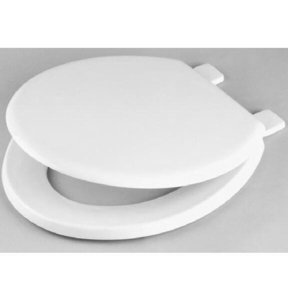 Celmac Emerald White Toilet Seat With Plastic Hinges 50% Korting