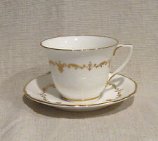 Royal Worcester Gold Chantilly Demitasse Cup and Saucer