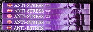 40-Sticks-5-Packs-ANTI-STRESS-relief-calming-meditate-Incense-Insence-Bulk-HEM