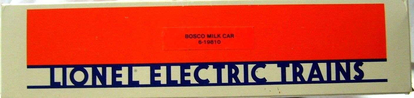 LIONEL 6-19810 OPERATING BOSCO MILK CAR SET      NEW