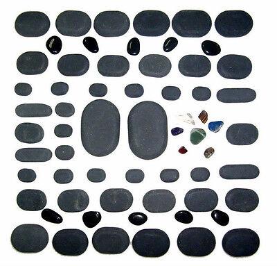 Sivan HEALTH and FITNESS Basalt Lava Hot Stone Massage, 60 Piece Kit