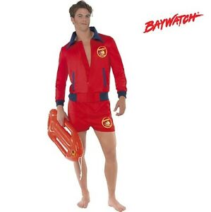 a18e4e43d8bd Image is loading Licensed-Baywatch-Lifeguard-Fancy-Dress-Costume-Jacket-amp-
