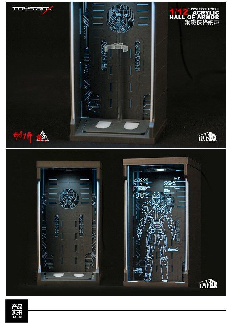 TOYS-Caja comicave SHF Acrílico Salón de armadura caja de presentación F 1 12 Iron Man Figure