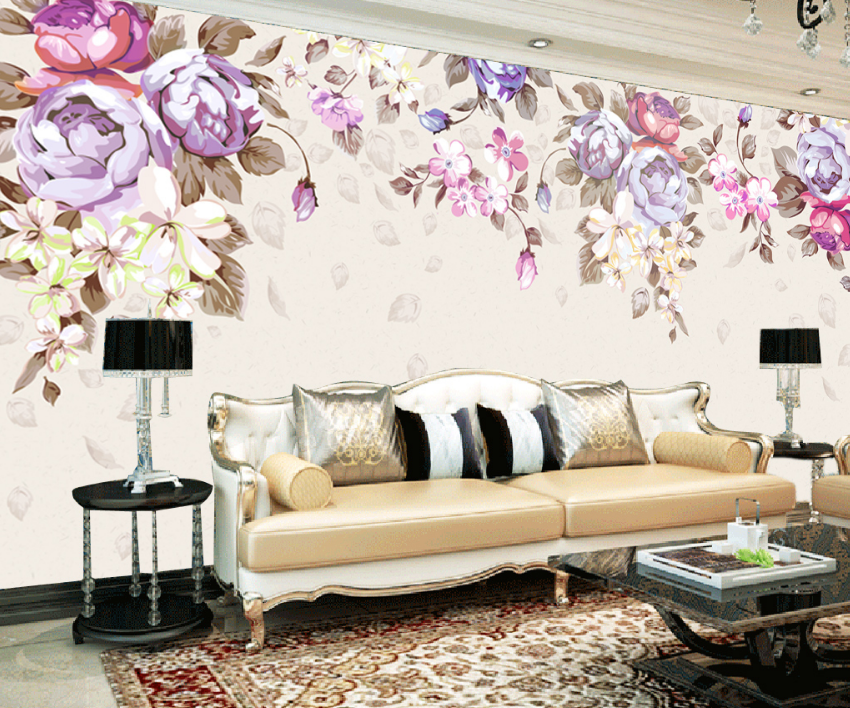 3D Petals Paint 464 Wallpaper Murals Wall Print Wallpaper Mural AJ WALL AU Lemon