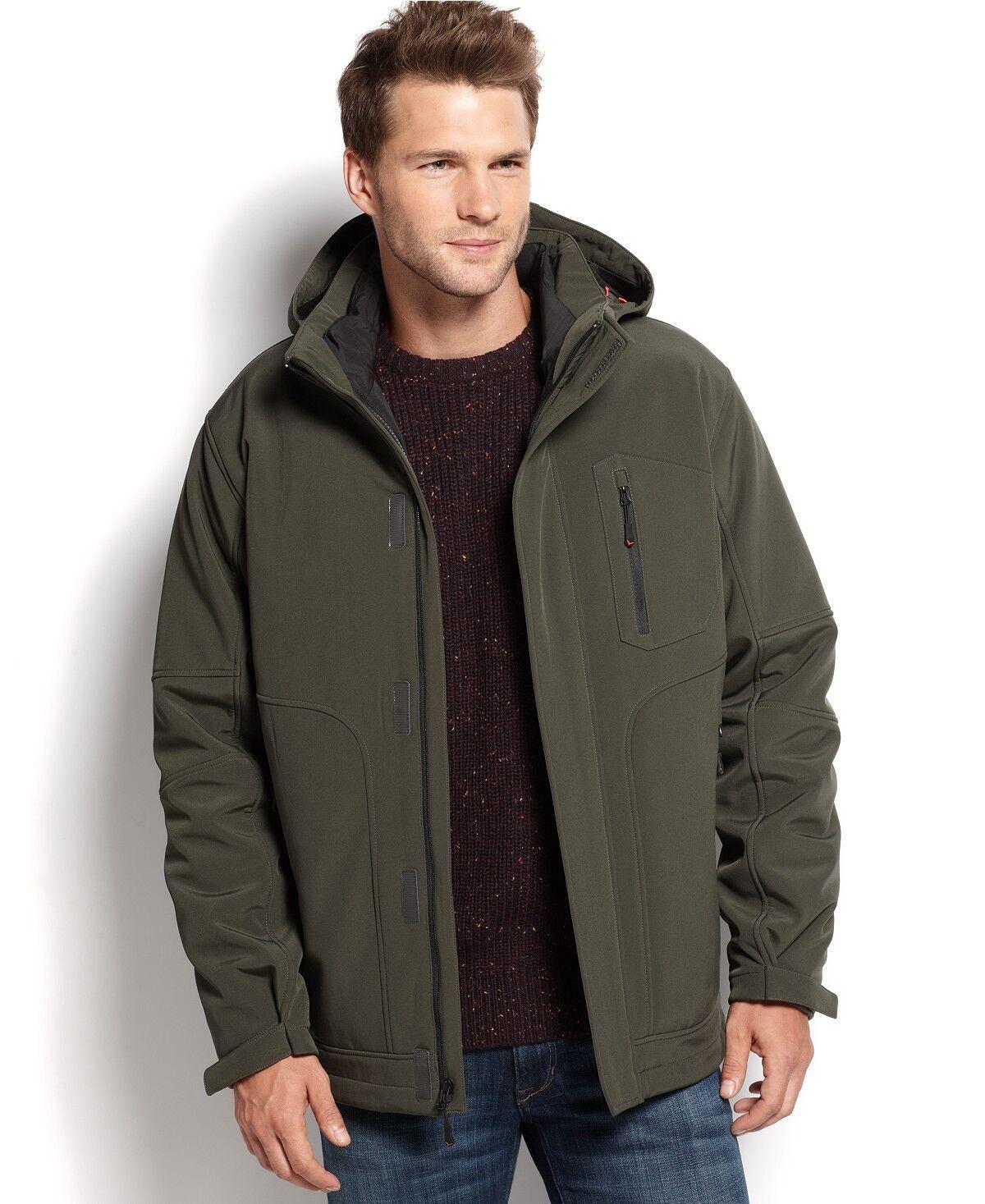 288 Hawke & Co Hombres  verde Softshell Parka con Capucha Abrigo Chaqueta de Plumón XL aislado  online al mejor precio