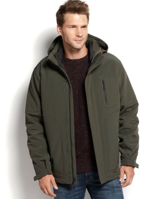 95bf5ed2bd3 Hawke & Co Men Green Softshell Parka Hooded Insulated Coat Jacket Size M