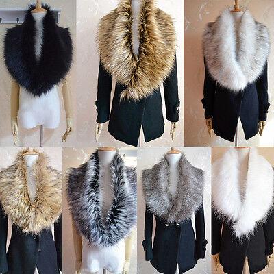 1pc Womens Winter Warm Soft Cozy Fashion Faux Fur Collar Scarf Shawl Wrap Stole