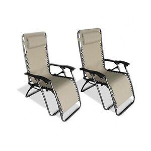 Magnificent Details About Zero Gravity Chair Beige Set 2 Anti Gravity Chaise Lounge Recliner Beach Patio Inzonedesignstudio Interior Chair Design Inzonedesignstudiocom