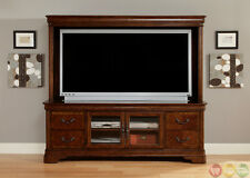 "Alexandria Large Traditional Entertainment Center 82"" TV Stand & Hutch Wall Unit"