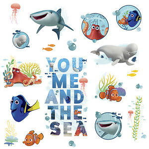 19 finding dory quote wall sticker disney decals kids for Finding dory wall decals