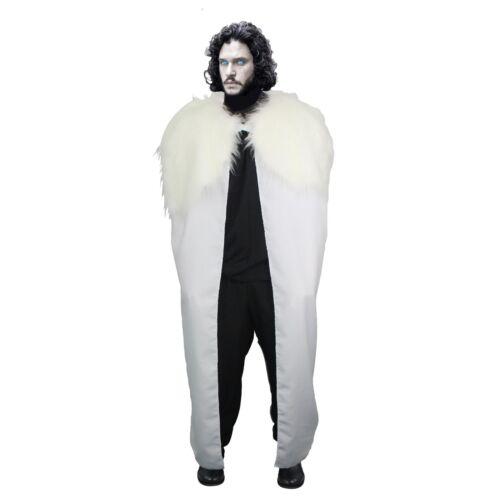"""48/"""" John NEVE GIOCO Mantello con /'WHITE WALKER /""""collo in pelliccia sintetica House of Thrones"""