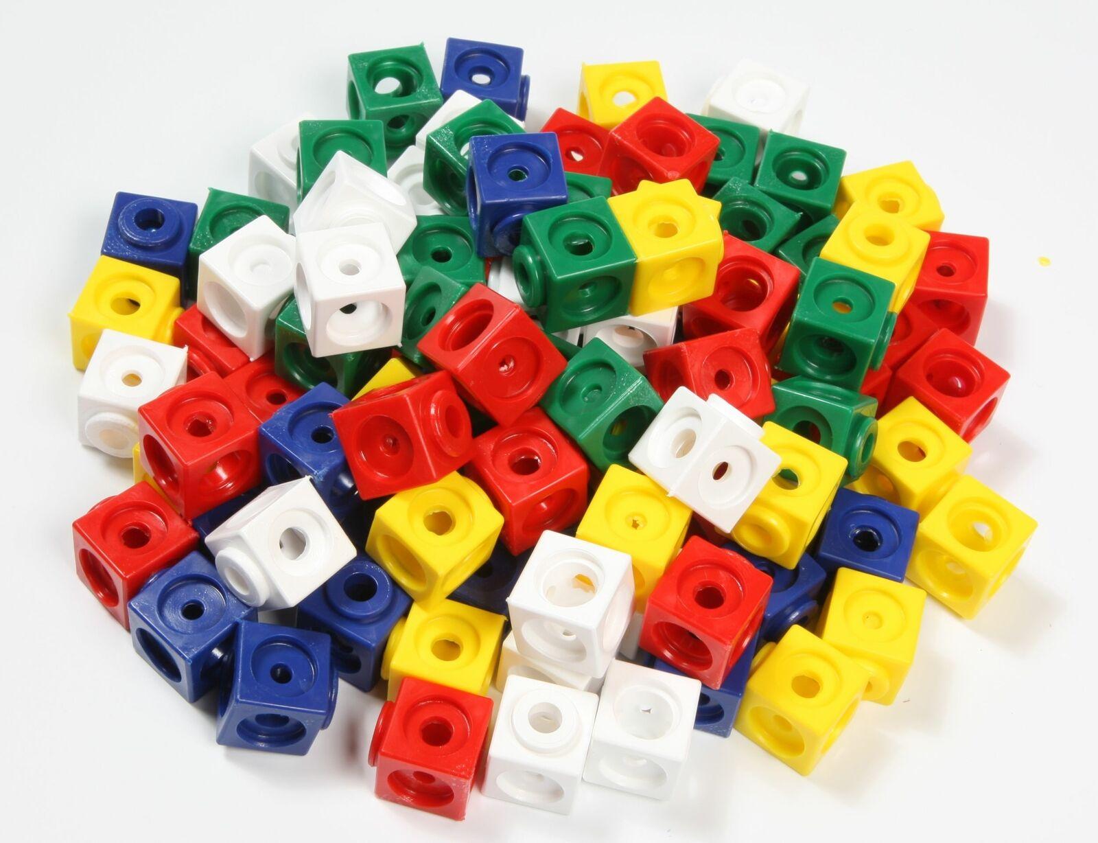 1000 Steckwürfel 5-farbig in der Box, Kantenlänge 1,7 cm, figureendarstellung