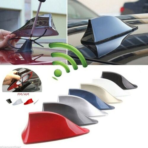 Car Exterior Roof Shark Fin Adhesive Sticker Antenna FM//AM Signal Radio Aerial W