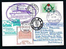 81588) LH FF Berlin - Paris 28.10.95, Karte SP MS BERLIN BP Aufg.Lissabon