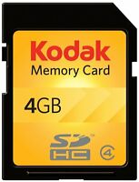 Kodak SD SDHC 4G 4GB Class 4 C4 Flash Memory Card For Digital Camera DSLR