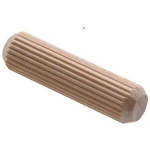 50 x 6mm x 25mm HARDWOOD GROOVED CHAMFERED WOOD DOWELS PINS CRAFT FURNITURE