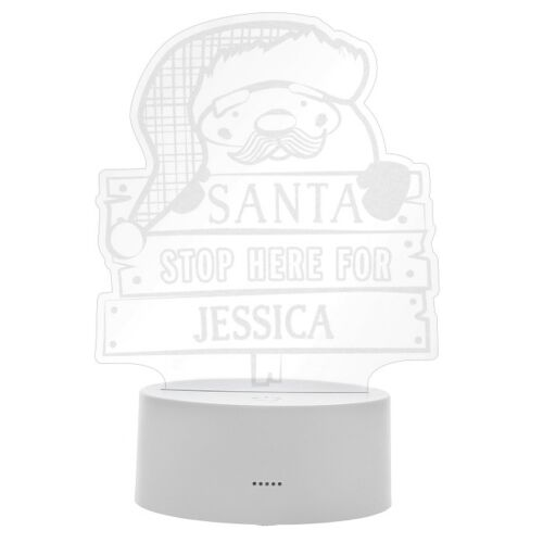 Personalised Santa Stop Here LED Colour Changing Night Light Xmas Decoration