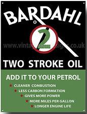 BARDAHL TWO STROKE OIL METAL SIGN.(A3) SIZE.VINTAGE OIL SIGN,GARAGE SIGN.