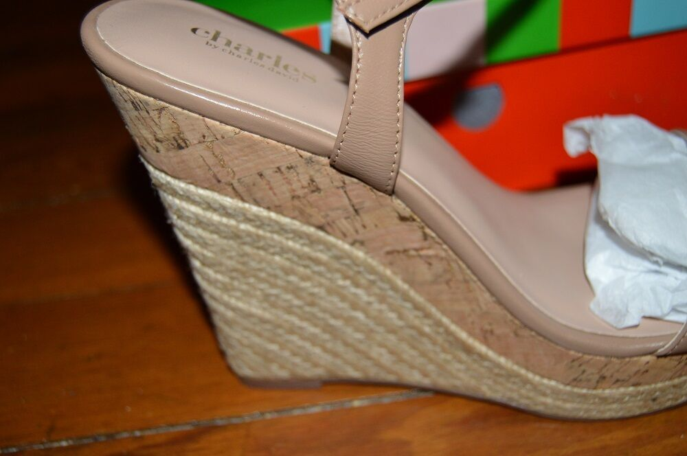 NIB CHARLES BY CHARLES DAVID ALABAMA PLATFORM WEDGE SANDALS SANDALS SANDALS NUDE 11M  118 7f2a0c