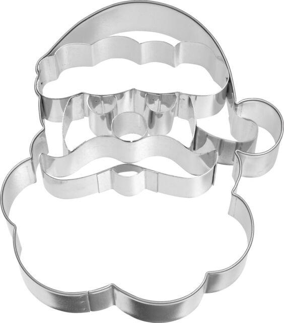 Weihnachtsmann - Gesicht 10,5 cm Präge- Ausstecher Ausstechform Nikolaus