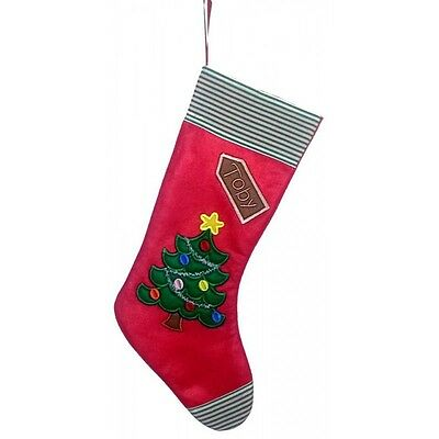 Personalised Christmas Tree Felt Christmas Stocking Add any name,change colours