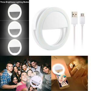 Selfie Portable LED Ring Fill Light Camera for Cell Phone iPhone X 8 Samsung S9 763769774635