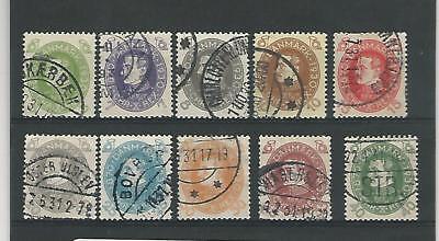 Aktiv Dänemark, Briefmarke, #210-219 Gebraucht 1930 P