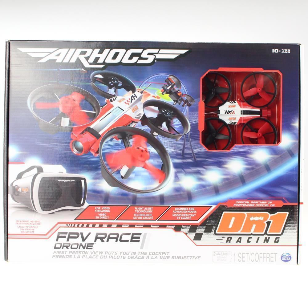 AIRHOGS Air Hogs  DR1 FPV telecamera Race Drone with Headset 100% Bre nuovo  bellissimo