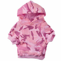 Pink Camo Dog Hoodies High Quality 100% Cotton Kangaroo Pocket Sweatshirt