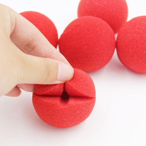 25pcs Red Foam Sponge Ball Clown Nose Circus Party Halloween Costume A8H7