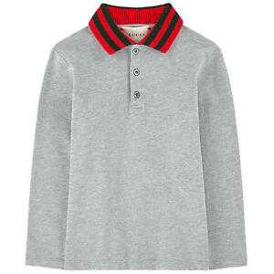 10e95228a0cb NWT NEW Gucci baby toddler boys gray blue polo red green web 18/24 ...
