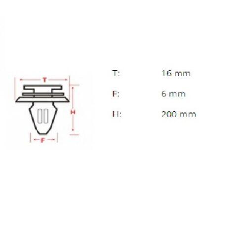 10 x Kabelbinder mit Clip 6 mm CHEVROLET CHRYSLER CITROEN DAEWOO FIAT FORD Alfa*