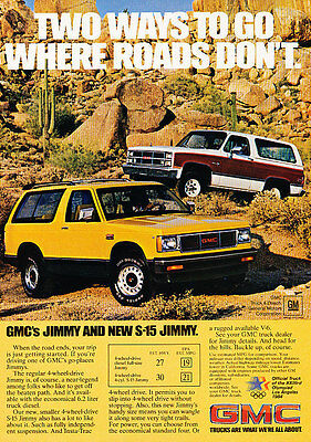 1988 GMC 4.3 and S-15 Jimmy Truck Classic Vintage Advertisement Ad D61 Move