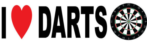 20 cm x 7 cm Humorous I LOVE DARTS VINYL STICKER Novelty Sticker