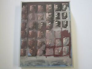 DON NELSON PAINTING STUDY FOR JOHN ALTOON 1967 PORTRAIT ABSTRACT EXPRESSIONISM