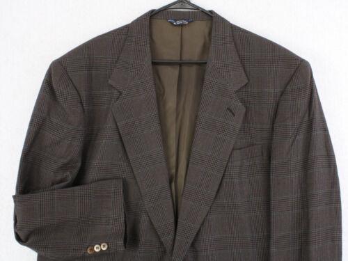 Vtg 80s 90s BIELLA Gray Windowpane Plaid Wool Suit