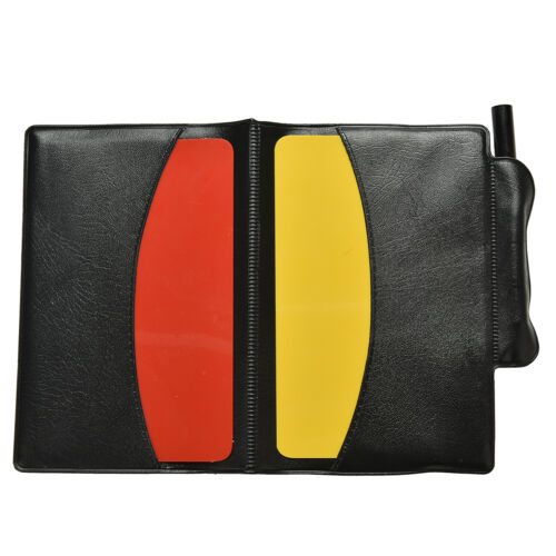Soccer Referee Wallet Red Card and Yellow Card Wallet Pencil Notebook  In CH