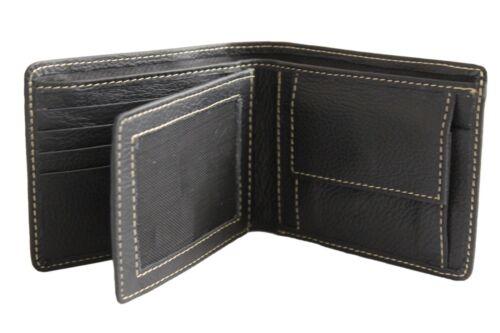 Bullahshah Top Quality Men/'s Black Cowhide Leather Wallet Purse