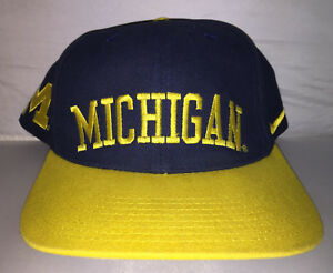 14b6d5545122a ... best image is loading vtg michigan wolverines nike air adjustable dad  hat b6d0d ea849