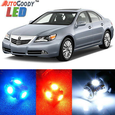 14 Bulbs Xenon White LED Interior Light Kit Package Lamps For Acura RL 2005-2012