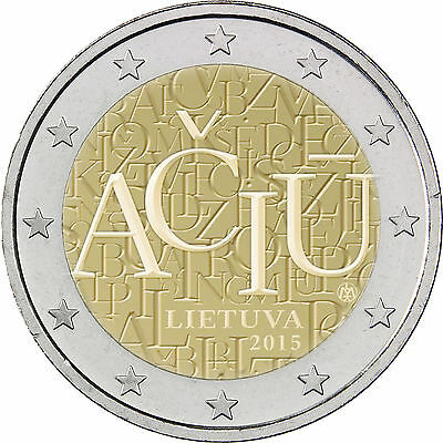 Lithuania 2 euro Commemorative Coin 2015 EU Flag UNC from Roll