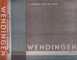 Details About Wendingen Journal For The Visual Arts Modernism Architecture Graphic Design Rare