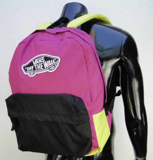 2f622e6fe7a Vans Realm HTC Color Block Unisex Womens Backpack School Bag