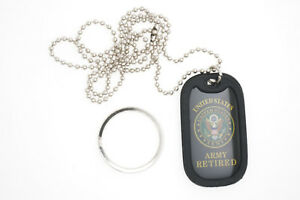 United States U.S. Military Army Veteran Dog Tag Necklace / Keychain